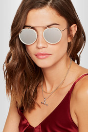 Wynwood Ace round-frame acetate and silver-tone sunglasses