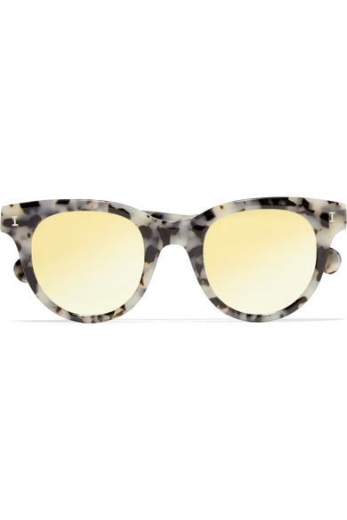 e474cc380496 Illesteva   Sicilia cat-eye acetate mirrored sunglasses   NET-A ...