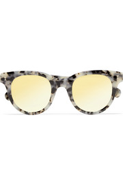 Illesteva Sicilia cat-eye acetate mirrored sunglasses