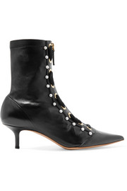 Elliot embellished leather ankle boots