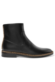 Lanvin Chain-embellished leather Chelsea boots