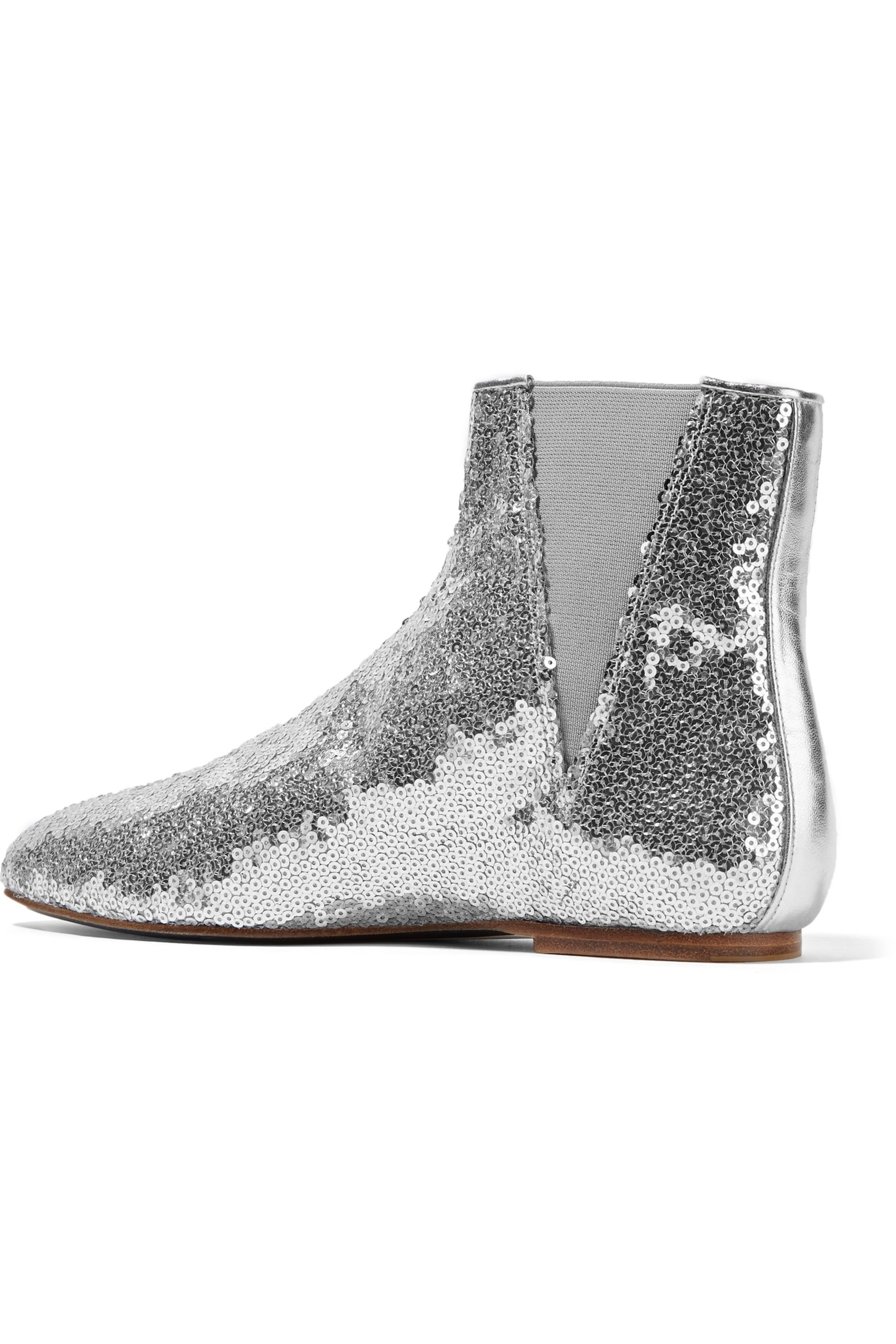Loewe Sequined leather Chelsea boots