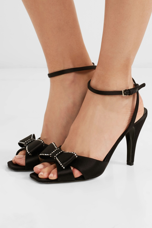 Loewe Crystal-embellished satin sandals