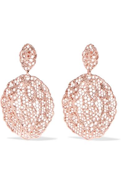 Aurélie Bidermann - Lace Rose Gold-plated Earrings