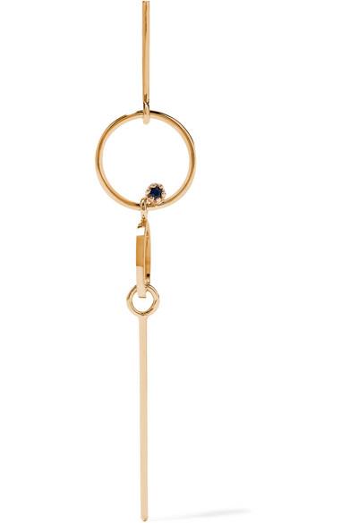 Sarah & Sebastian Long Bubble 14-karat Gold Sapphire Earring lNc0Fb