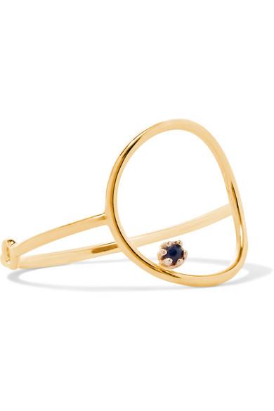 SARAH & SEBASTIAN Stone Bubble 14-karat gold sapphire ring