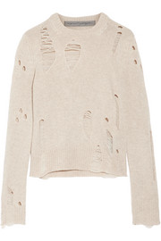 Raquel Allegra Distressed cashmere sweater