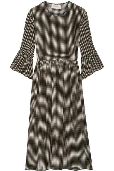 The Sweetie gingham silk midi dress