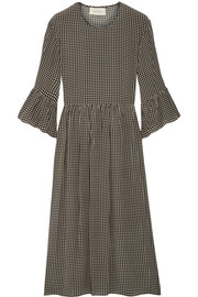 The Sweetie gingham silk midi dress
