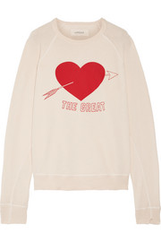 The College printed cotton-jersey sweatshirt