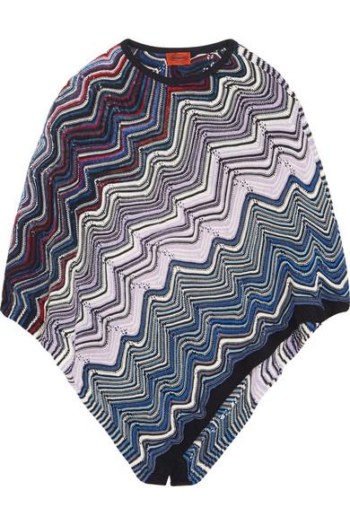 Missoni - Metallic Crochet-knit Poncho - Blue