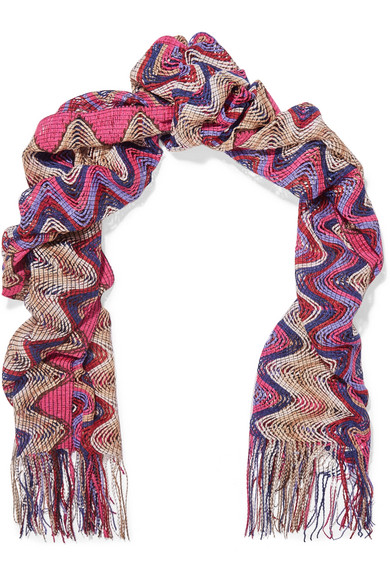 Missoni - Knitted Scarf - Pink