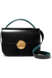 Marni Tuk medium glossed-leather shoulder bag