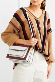 Marni Trunk two-tone textured-leather shoulder bag