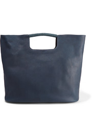 Birch large textured-leather tote