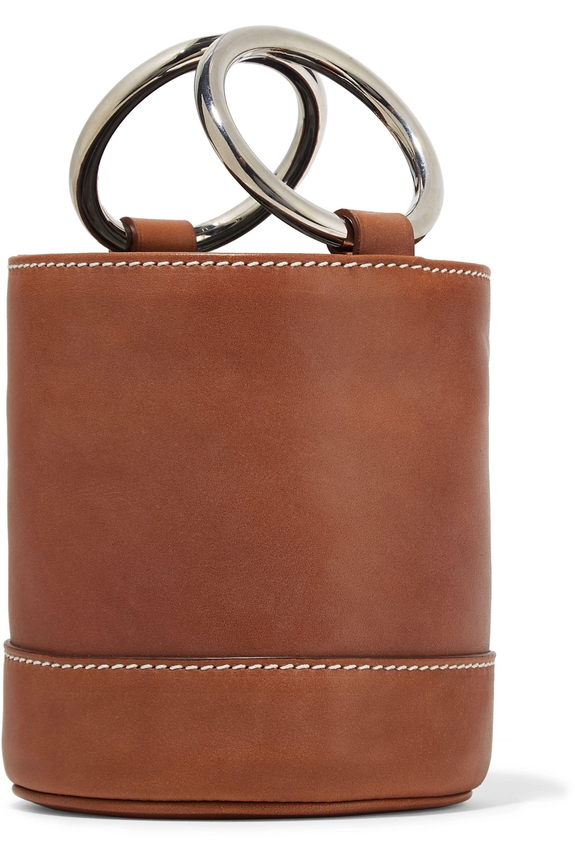 SIMON MILLER Bonsai 15 mini leather bucket bag