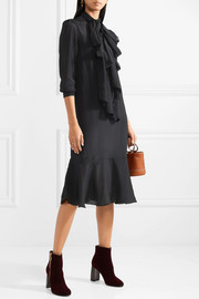 See by Chloé Pussy-bow crepe de chine dress