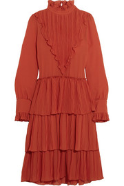 See by Chloé Tiered ruffled chiffon dress