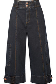 See by Chloé Cropped high-rise wide-leg jeans