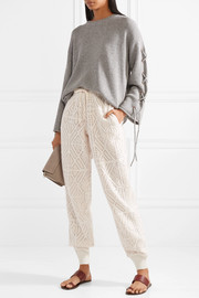 See by Chloé Pointelle-knit tapered pants