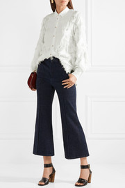 See by Chloé Georgette-paneled fil coupé chiffon blouse