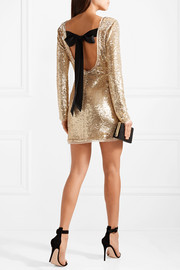 Racko open-back sequined cady mini dress