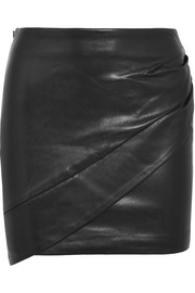IRO Enmag wrap-effect leather mini skirt