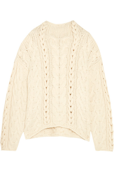 IRO - Nijyn Oversized Cable-knit Alpaca-blend Sweater - Ecru
