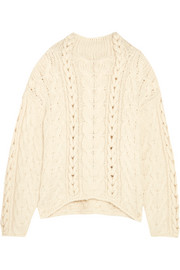 IRO Nijyn oversized cable-knit alpaca-blend sweater