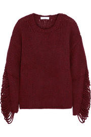 IRO Vasily laddered wool-blend sweater