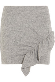 Toman ruffled wool mini skirt