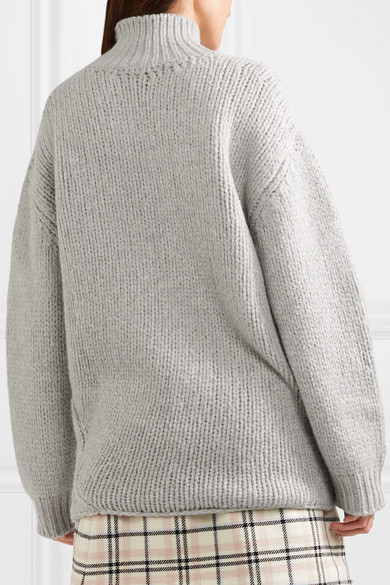 Vasen Oversized Laddered Wool-blend Turtleneck Sweater - Light gray Iro Best Store To Get Cheap Price Best Cheap Price The Cheapest Cheap Price Sale Cheap uJ4oOpk