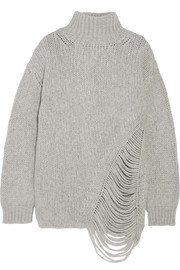 IRO Vasen oversized laddered wool-blend turtleneck sweater