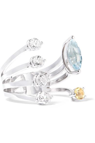 Delfina Delettrez 18-karat White Gold Diamond Ring D5eCQniY
