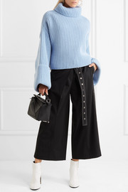 Jil Sander Oversized ribbed wool-blend turtleneck sweater
