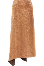 Jil Sander Silk-blend Lurex midi skirt