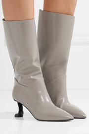 Marni Glossed-leather boots