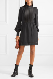 Marc Jacobs Embroidered crepe mini dress