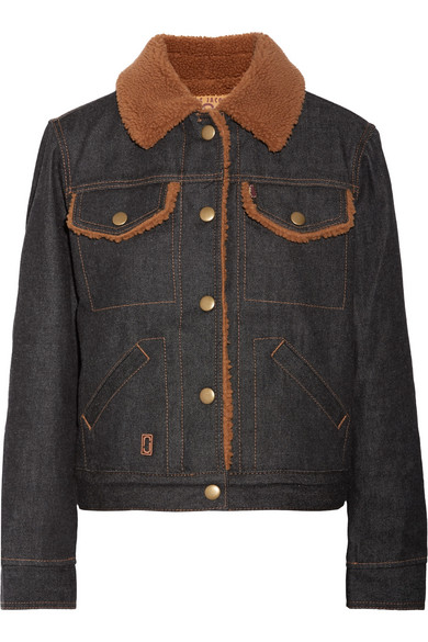 Marc Jacobs - Faux Shearling-lined Denim Jacket - Dark denim