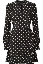 Marc Jacobs Polka-dot silk crepe de chine mini dress