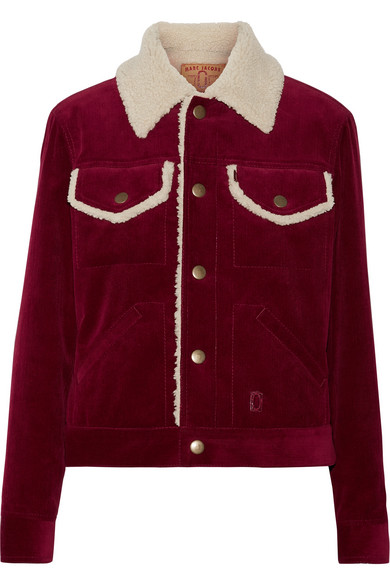 Marc Jacobs - Faux Shearling-lined Corduroy Jacket - Burgundy