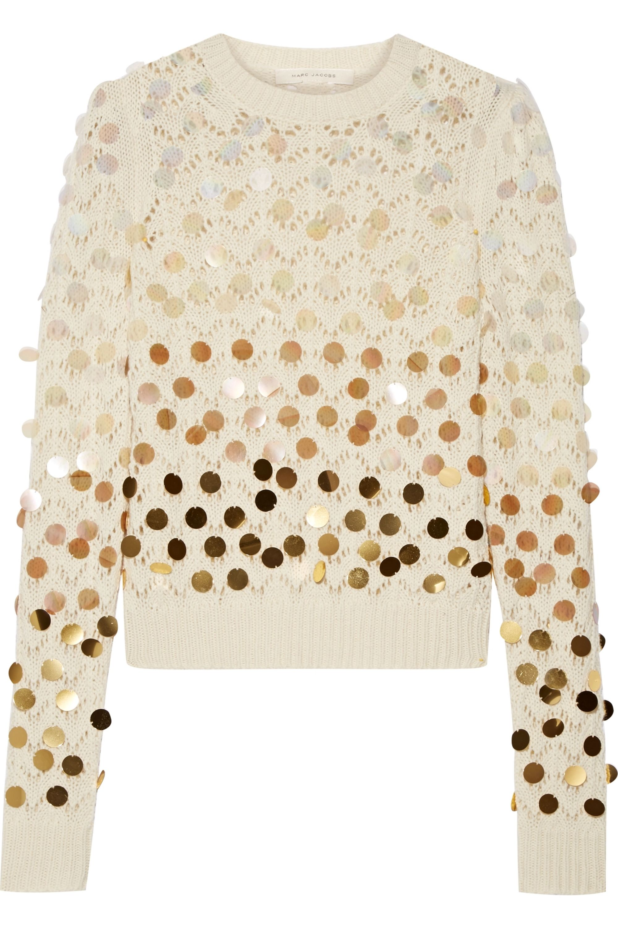 Runway Marc Jacobs Sequin-embellished wool and cashmere-blend sweater