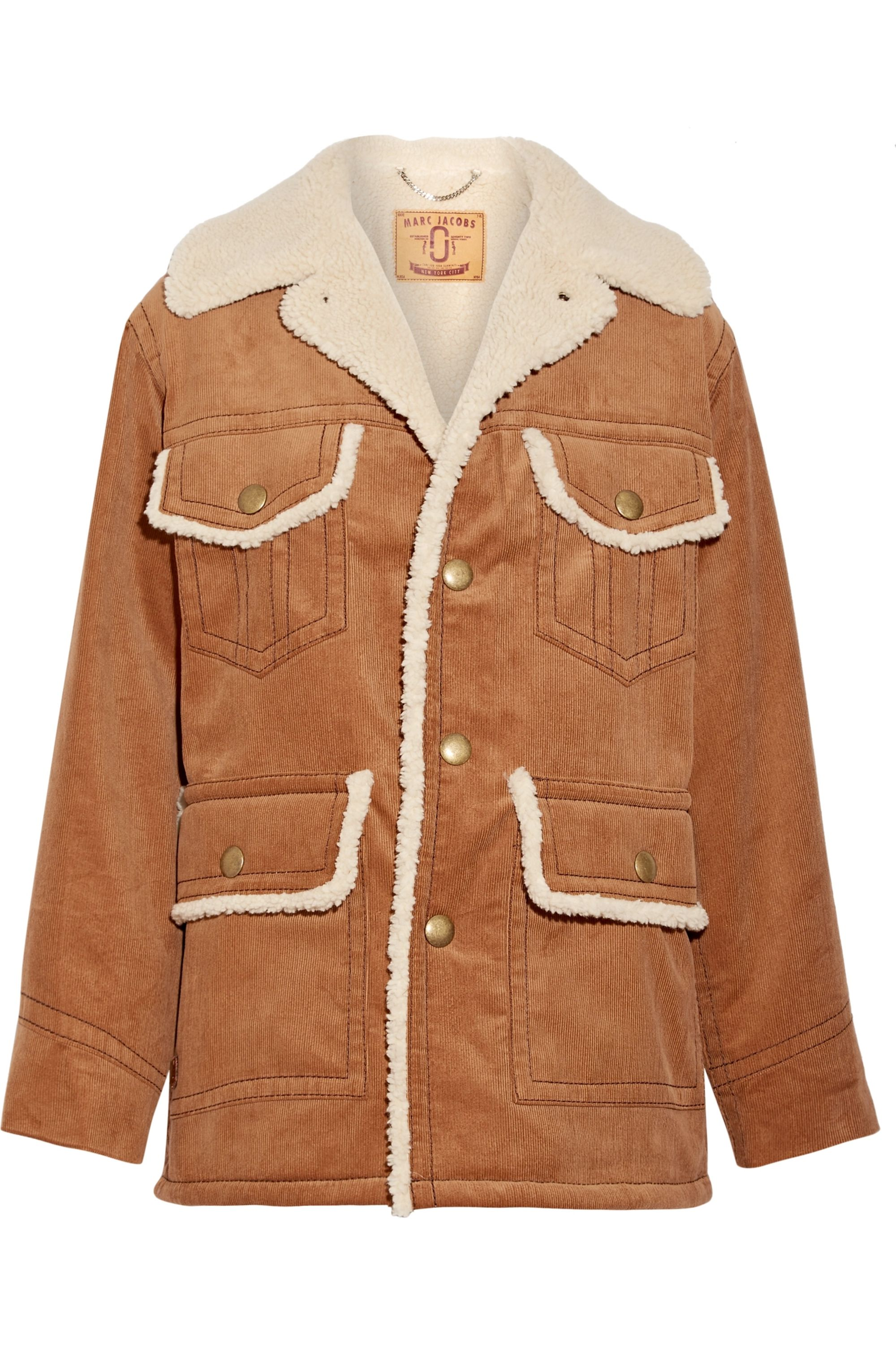 Runway Marc Jacobs Faux shearling-lined cotton-corduroy jacket