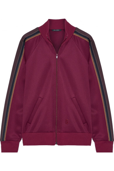 marc jacobs female marc jacobs striped techjersey jacket burgundy
