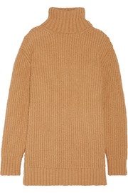 Wool and alpaca-blend turtleneck sweater