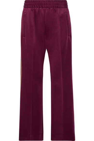 marc jacobs female marc jacobs striped techjersey track pants burgundy