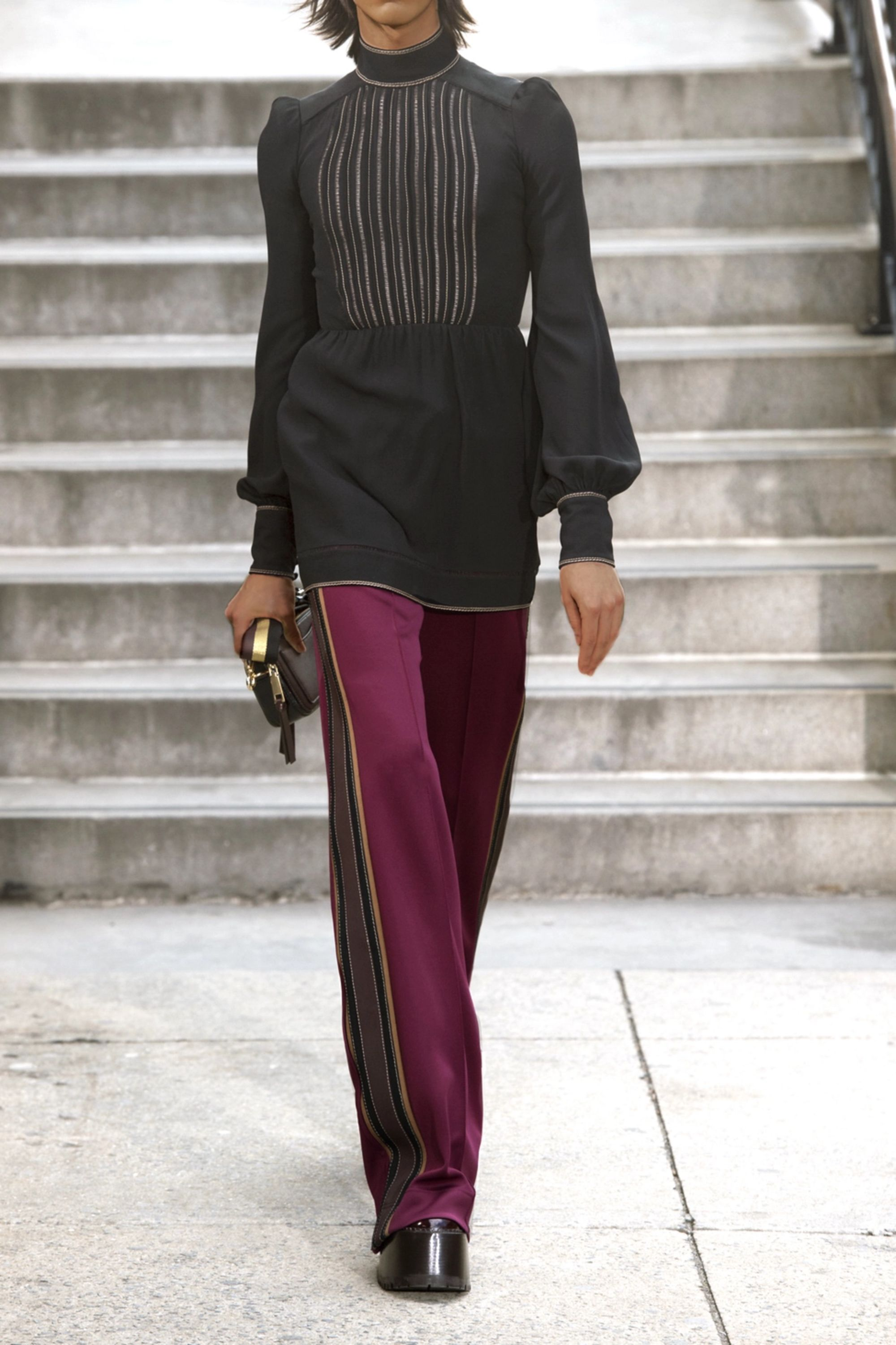 Runway Marc Jacobs Striped tech-jersey track pants