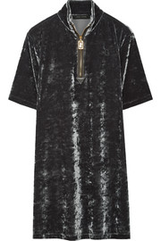 Marc Jacobs Stretch-velvet mini dress