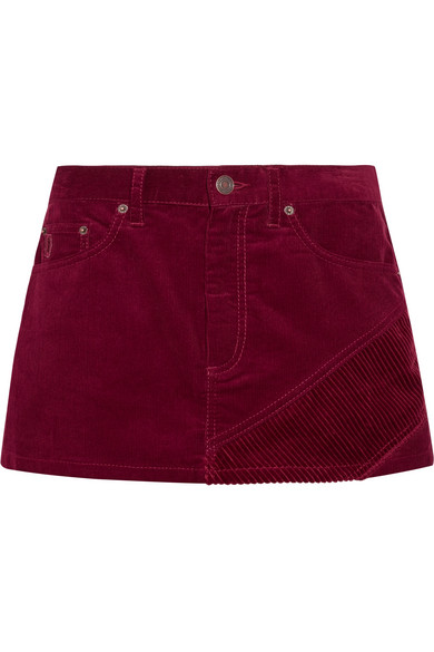 marc jacobs female marc jacobs corduroy mini skirt burgundy