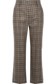 Marc Jacobs Cropped plaid wool-blend straight-leg pants